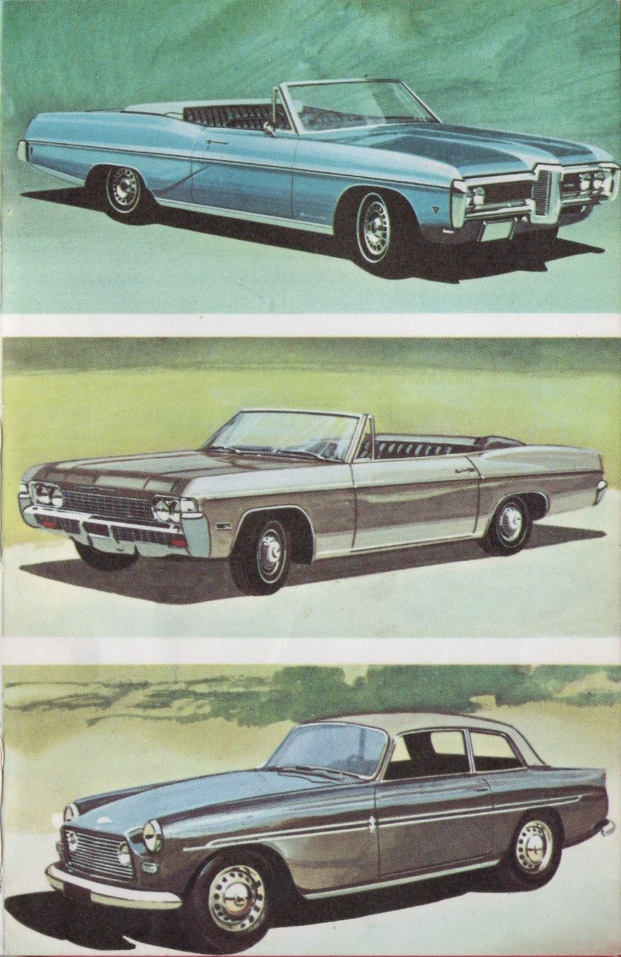 Vintage Ladybird Book Illustration Motor Cars Pontiac