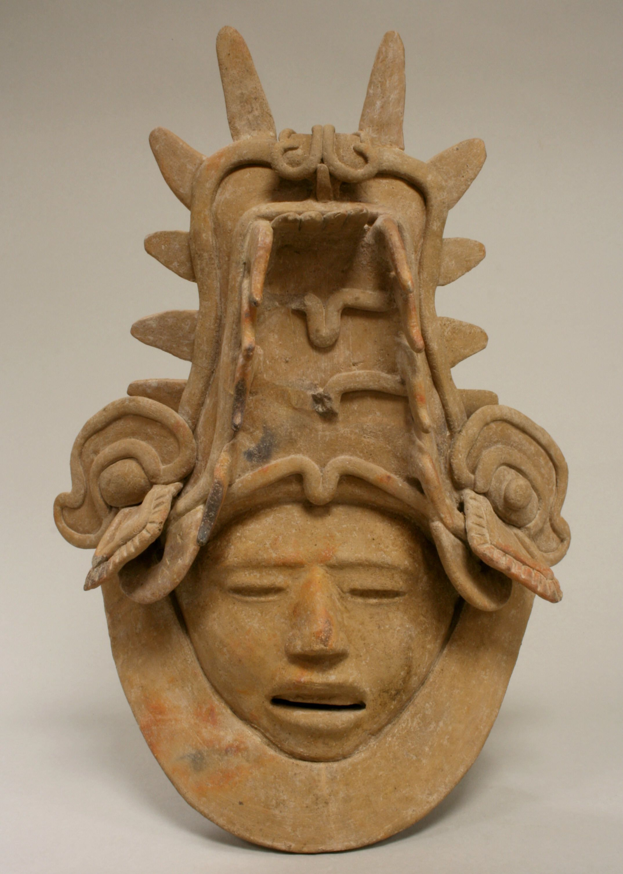 Ceramic Head with Elaborate Headdress | Veracruz - Mexico 6th–9th century