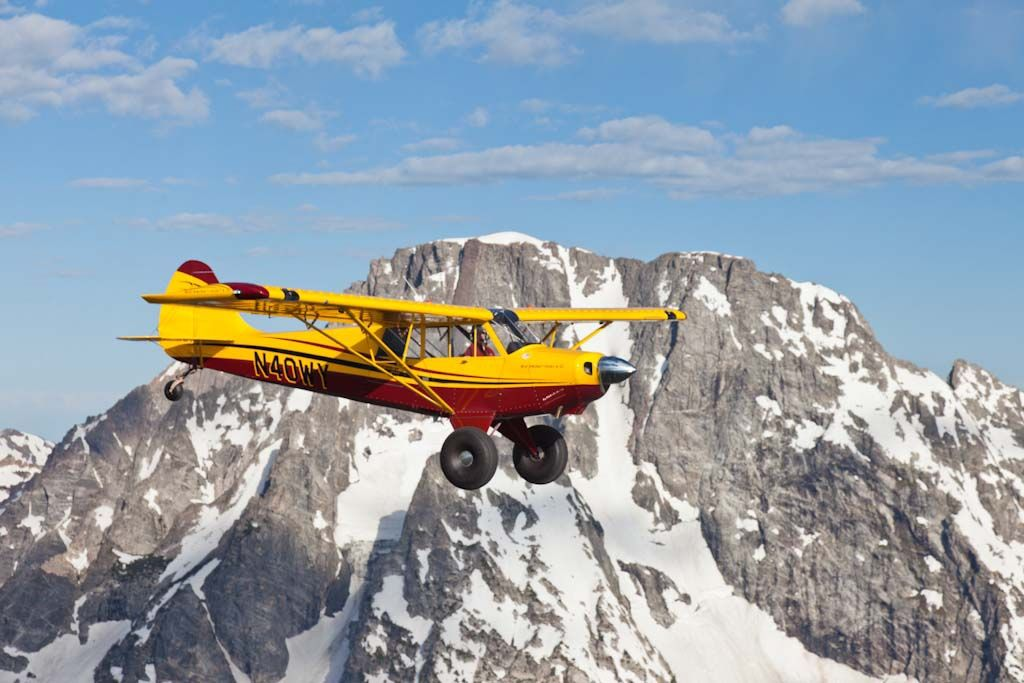 Aviat Husky in the mountains. From the AOPA archives. #taildragger
