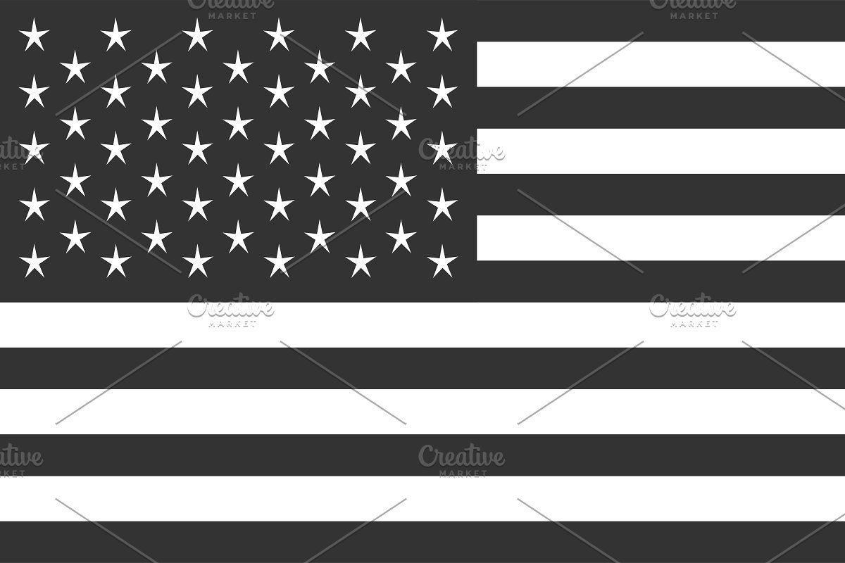 Usa Flag Vector American Flag Black In 2020 Flag Vector Usa Flag American Flag