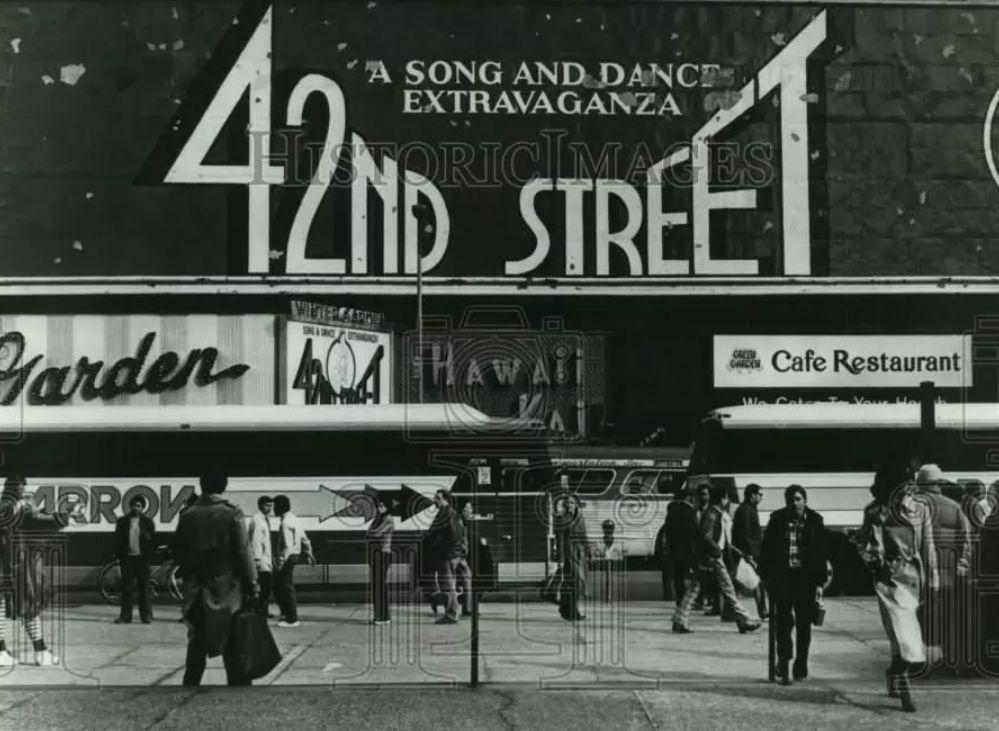 Broadway marquee 42nd street winter garden theatre