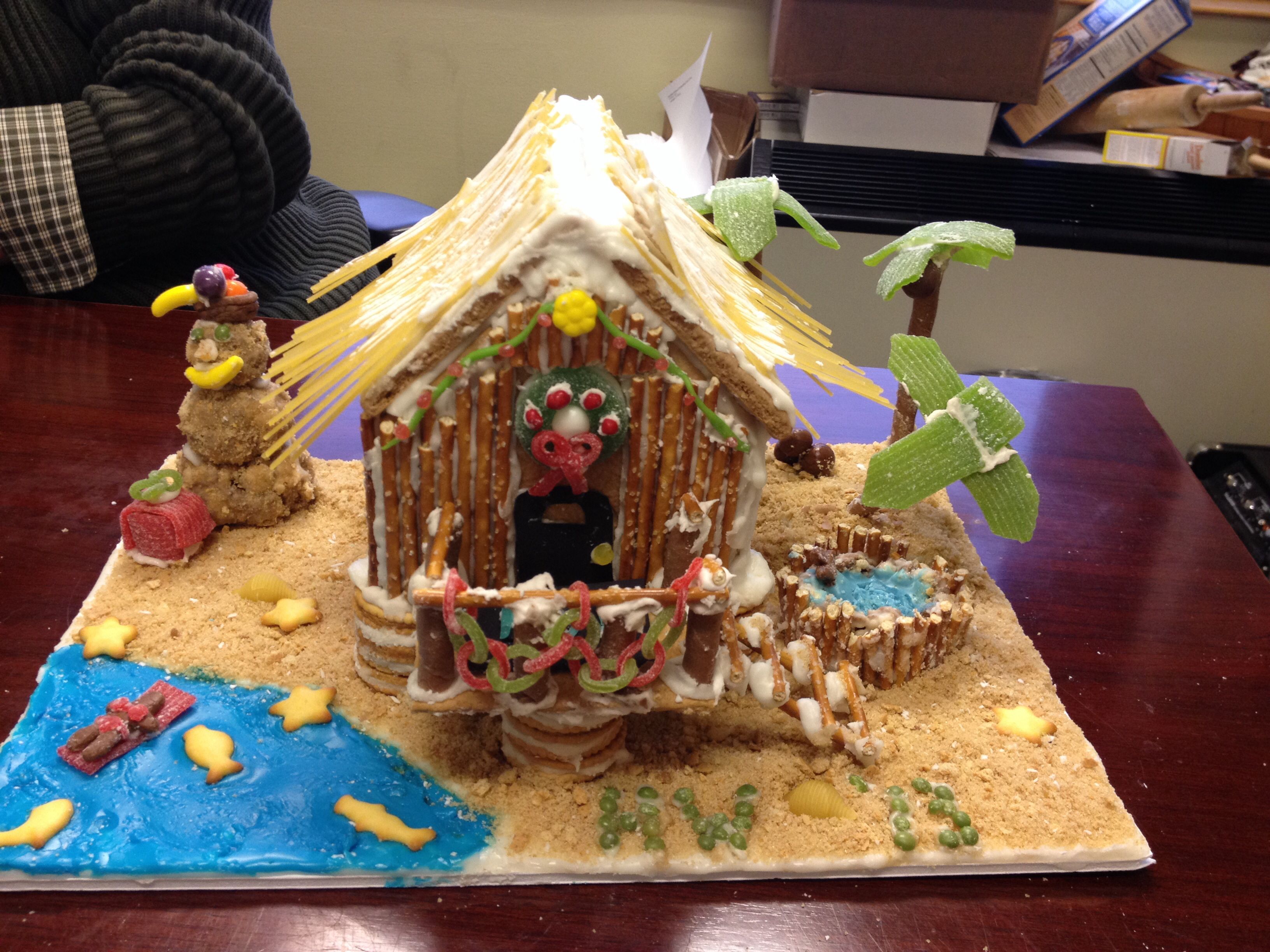 Beach themed gingerbread house diy crafts pinterest for Tropical themed house