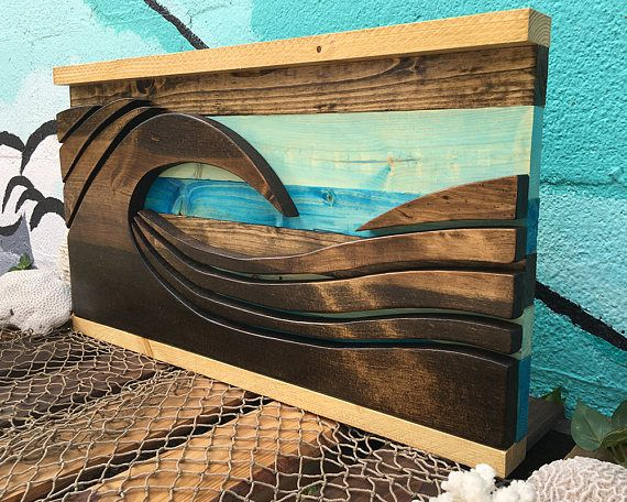Wood Wave Wood Wall Art Wooden Wall Art Beach Art Beach Decor