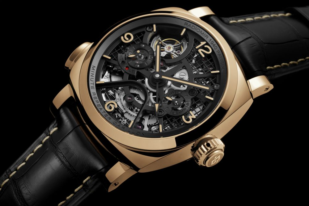 $400,000 Panerai Radiomir 1940 Minute Repeater Carillon Tourbillon GMT Watch Is First Double Minute Repeater