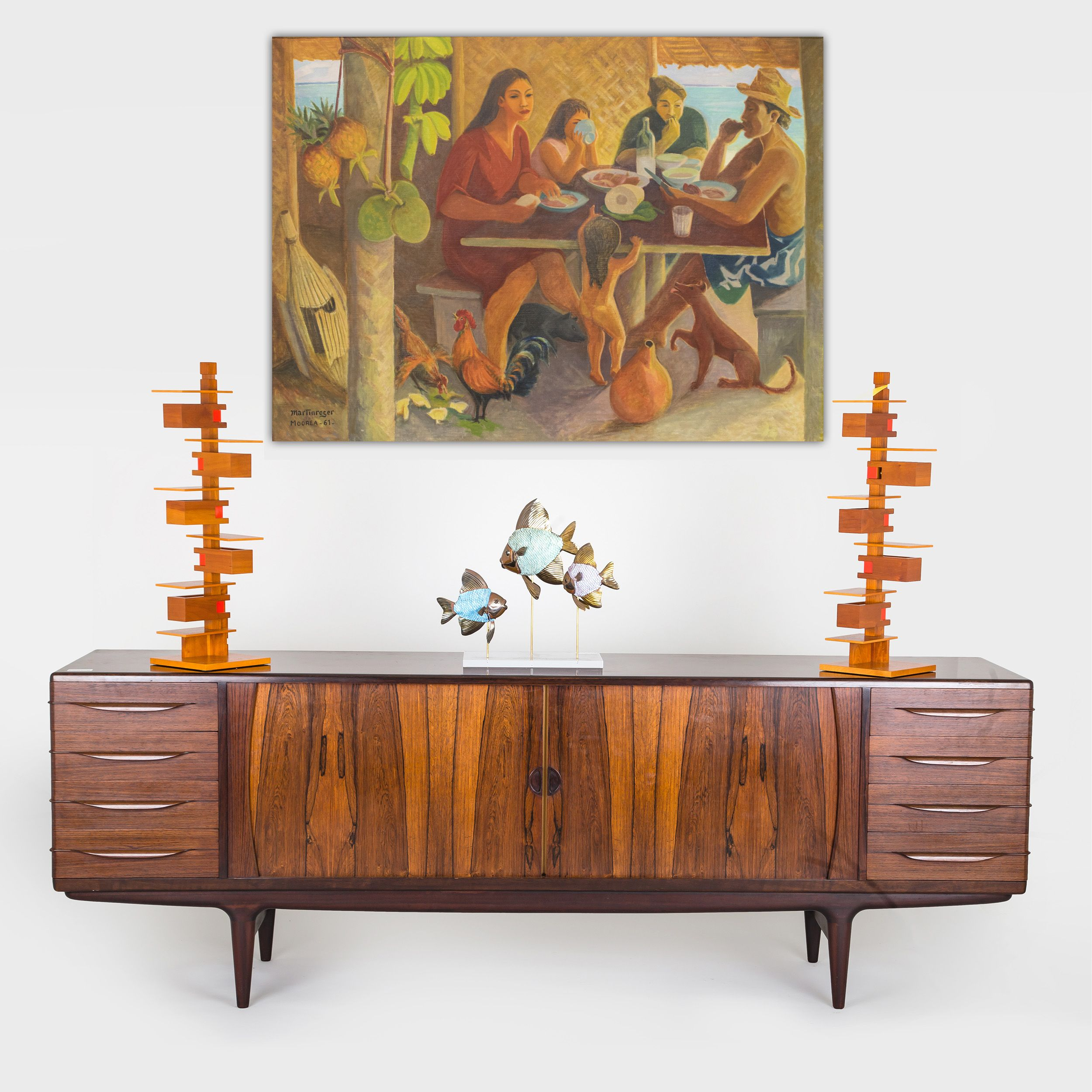 Mid century modern furniture art is sold every thursday at abell auction co in los angeles