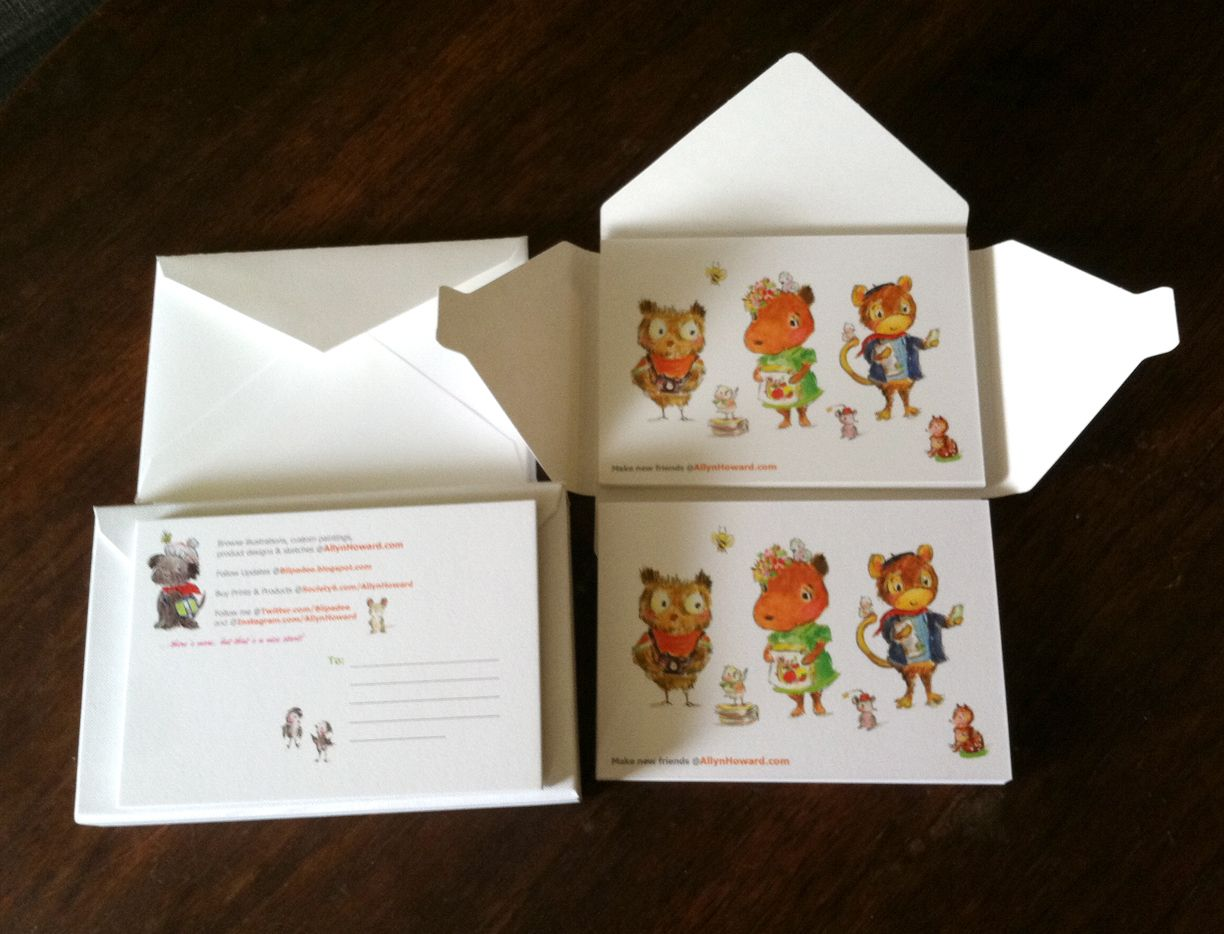 My #promo #postcards by #Moo - #illustration Allyn Howard ...
