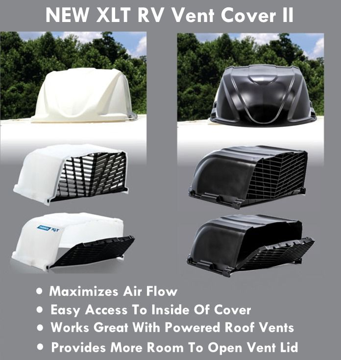 Camco 40446 Xlt Rv Roof Vent Cover Ii White Roof Vent Covers Vent Covers Roof Vents