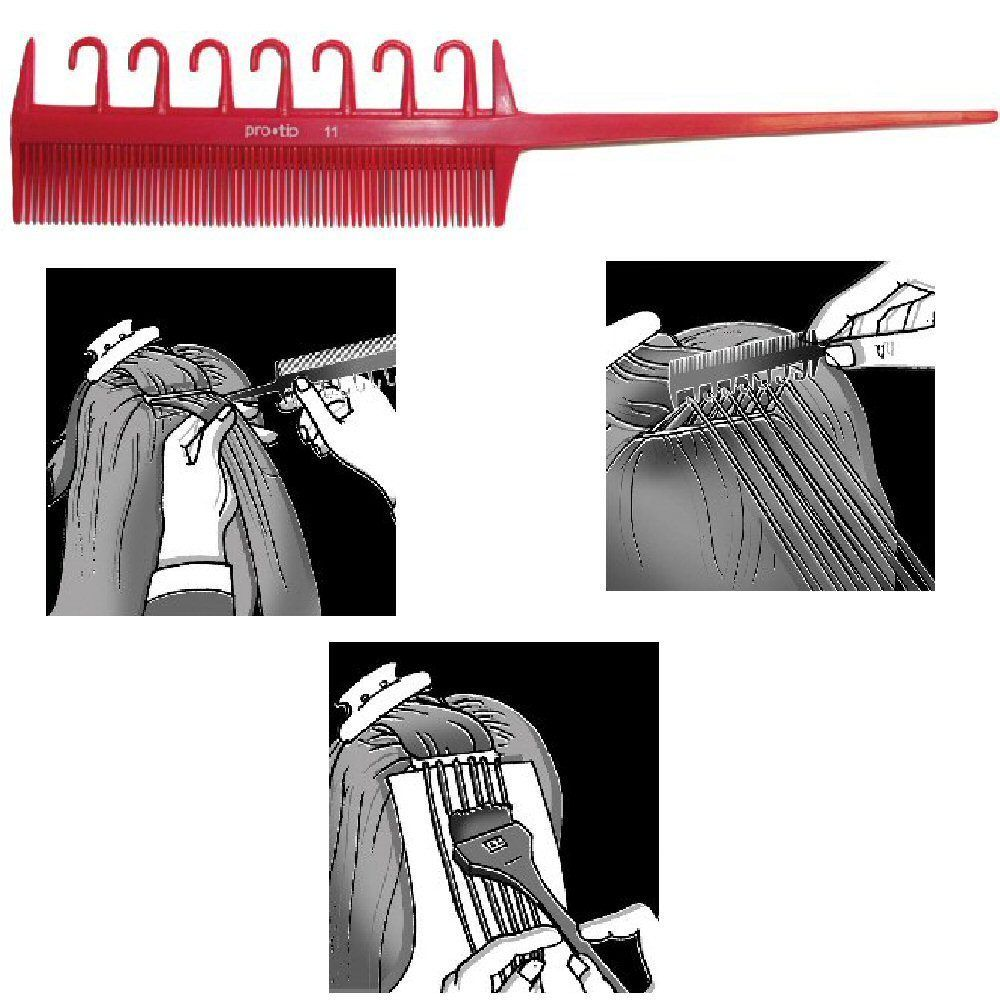 Pro Tip New Design Hair Highlighting Comb With Hooks Styling Brush