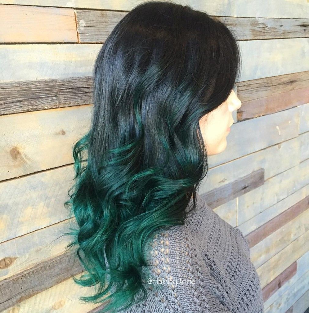 Mermaid Green Ombre Hair Color Pinterest Ombre Mermaid And
