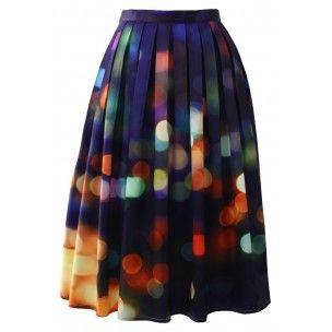 "milujem tuto suknu!  Midi sukňa ""Svetlá veľkomesta"""