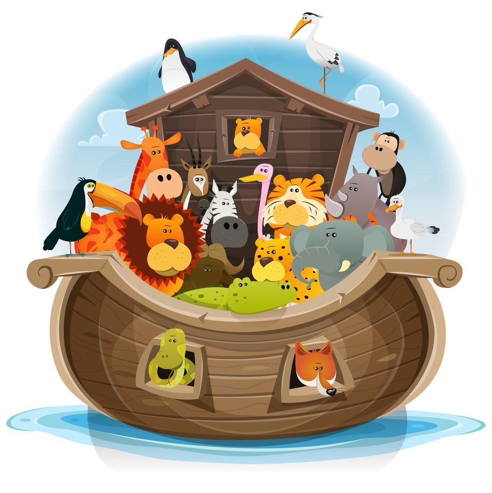 Noah's Ark With Cute Animals
