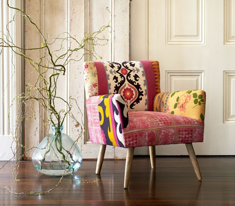 Mixed Print Etta Chair Home Decor Living Room Decor Inspiration
