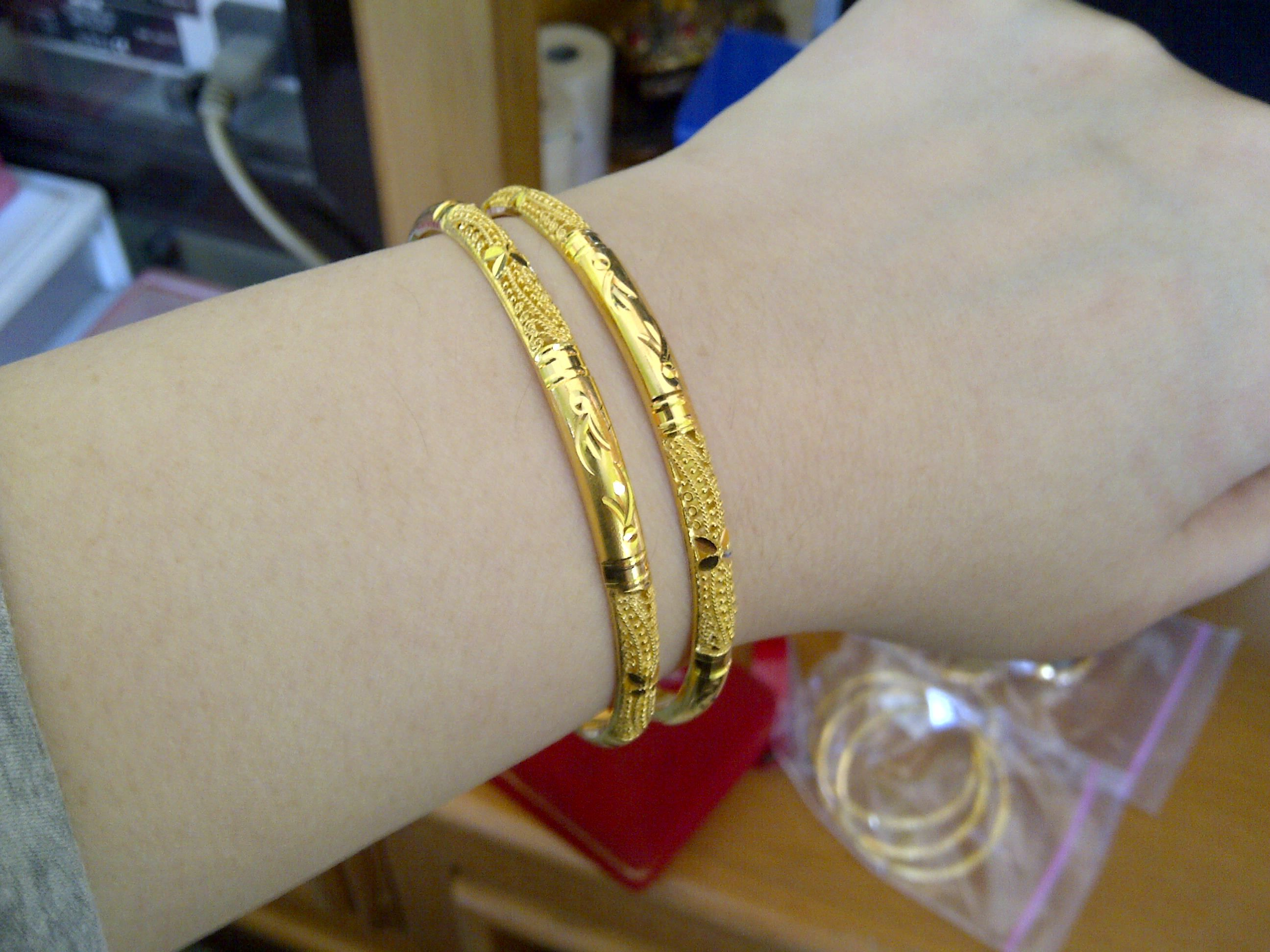 gold slim lyst jewelry in john bracelet gallery bangle bangles hardy product bamboo metallic