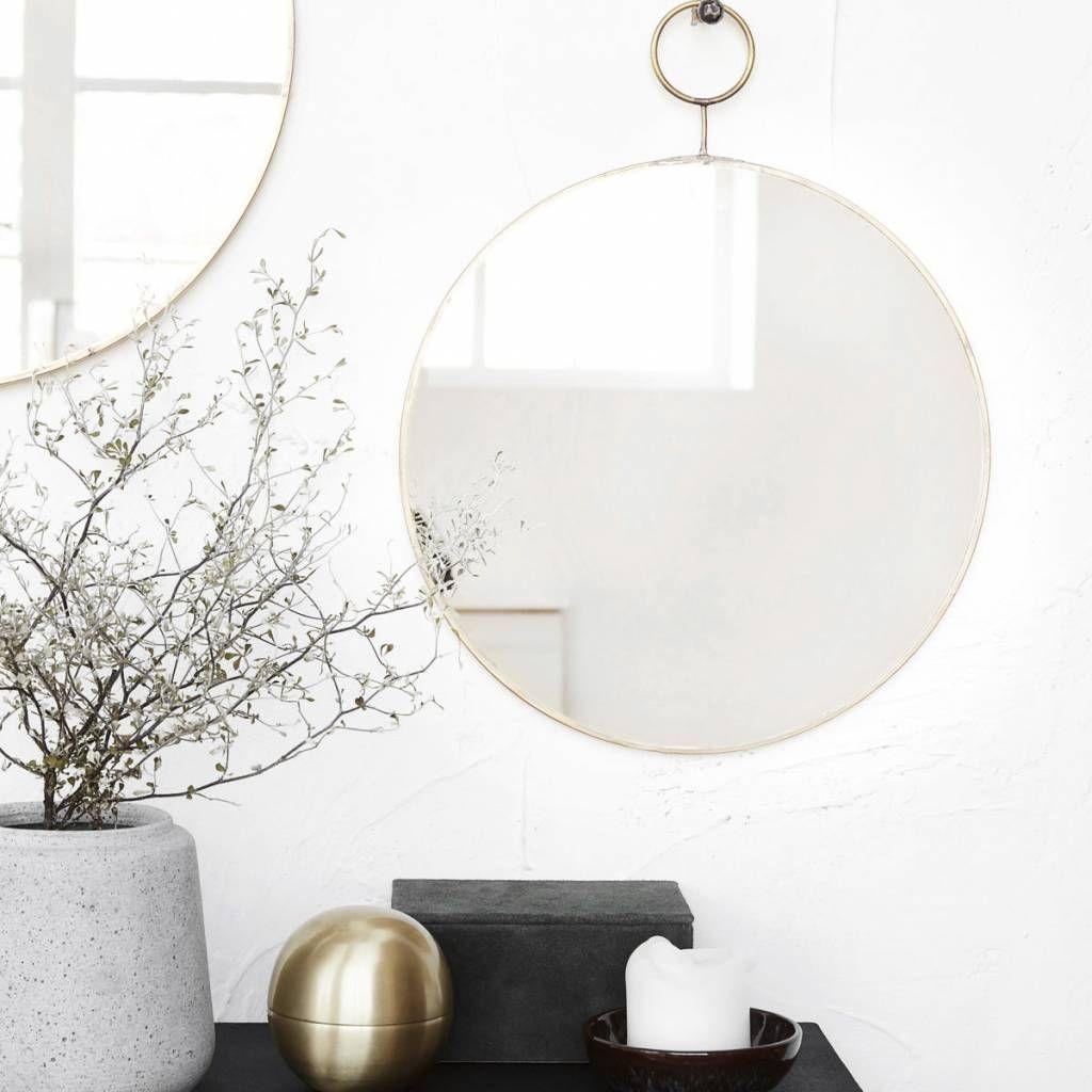 House doctor ronde spiegel the loop elegante ronde for Ronde plakspiegel