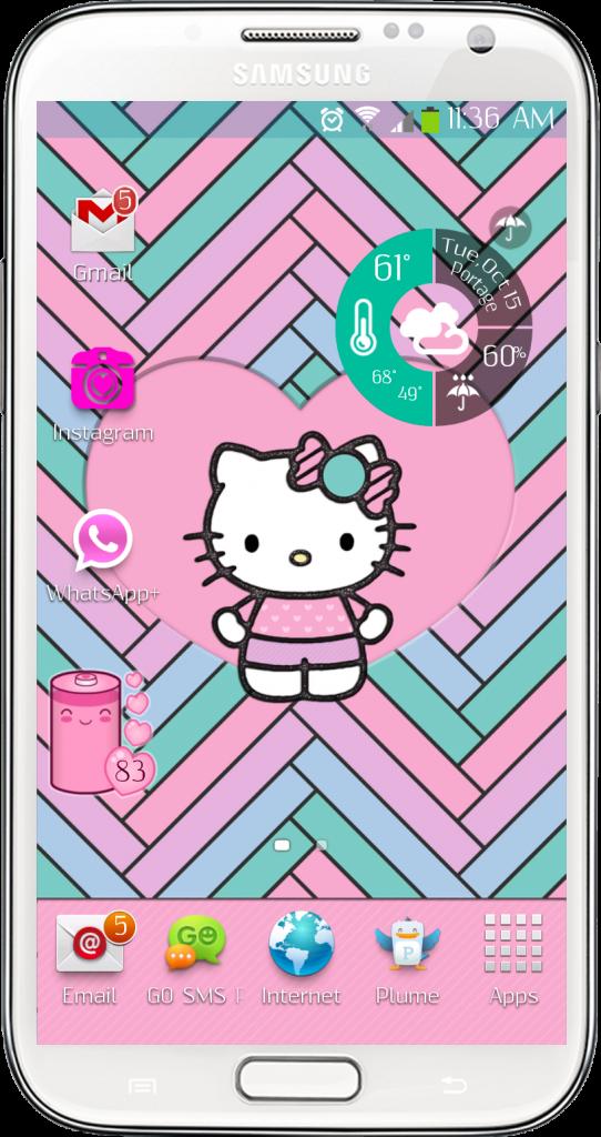 Hello Kitty Pastel Wallpaper