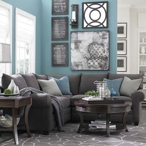 Grey Sofa Living Room Carpet Navy Blue Leather Furniture Dark Brown Decor Ideas And Sage Accents Google Search