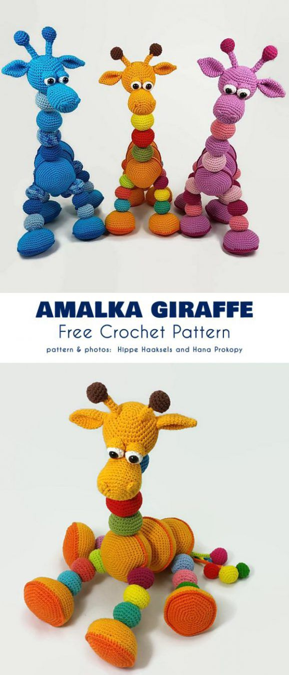 Sweet Amigurumi Giraffes Free Crochet Patterns