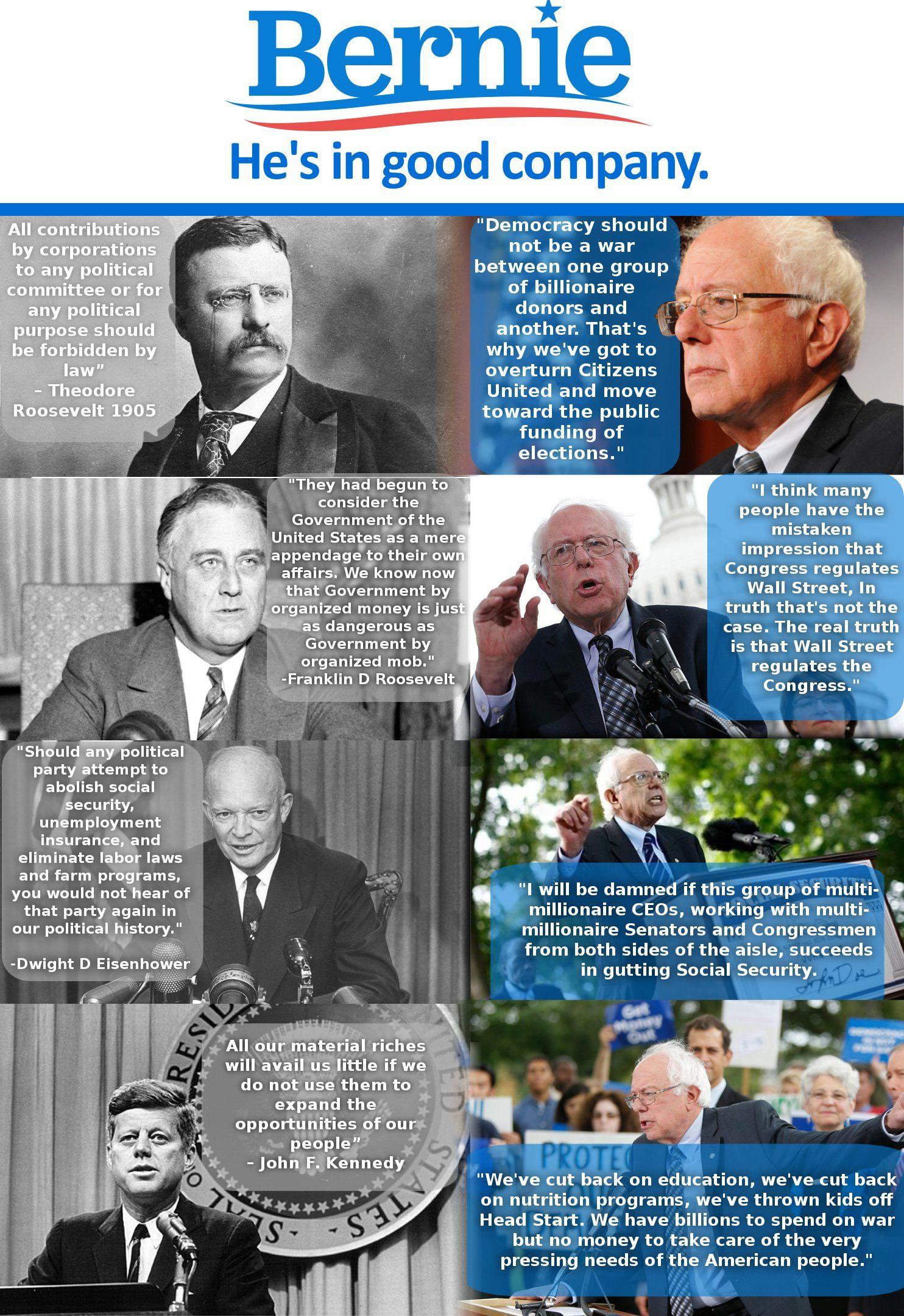 Among the greats, Bernie Sanders