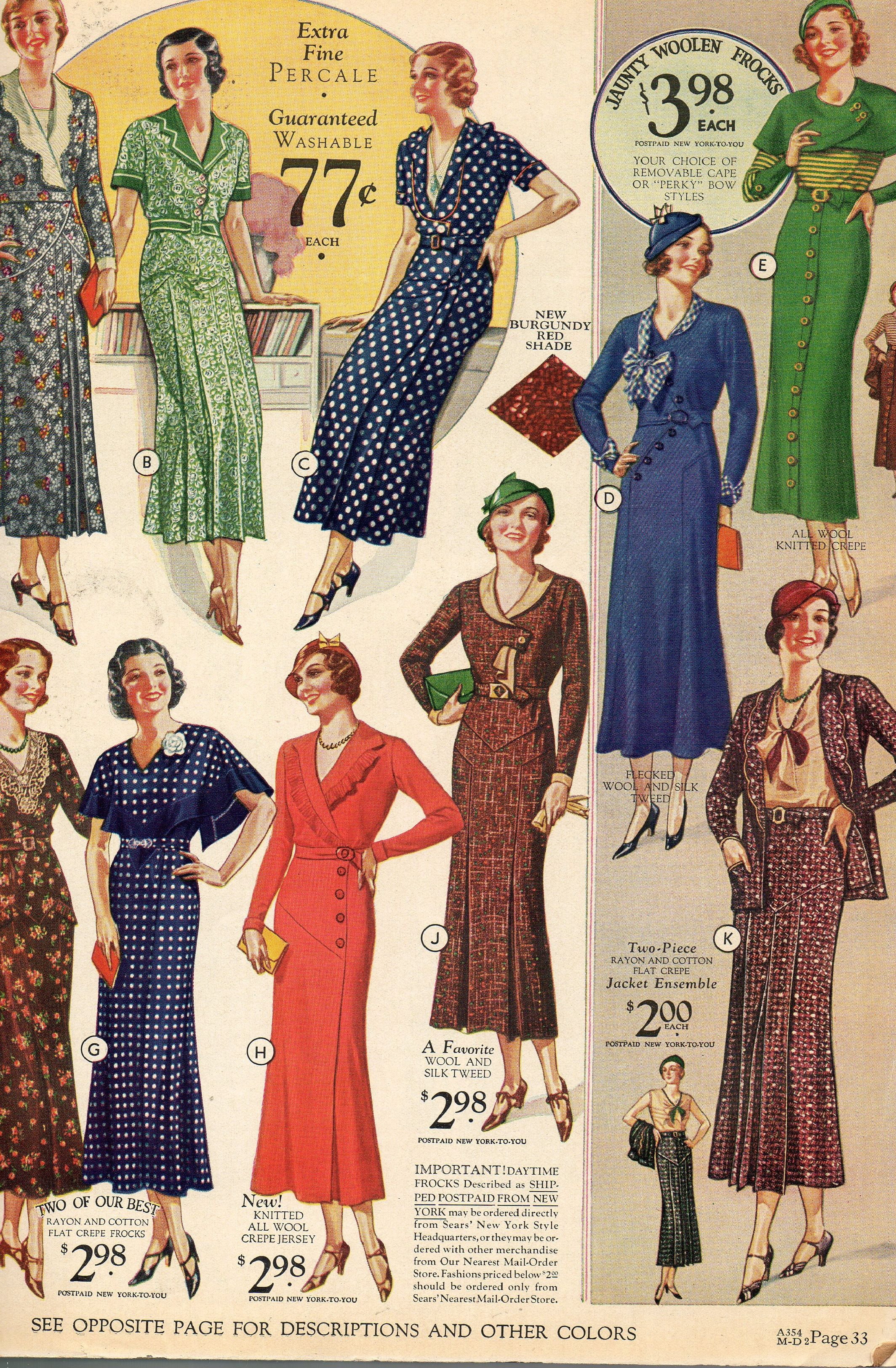 7f9e2af9b57aa Sears   Roebuck   Co. Fall Winter Catalog 1933-34 When I was a little girl  there were no malls