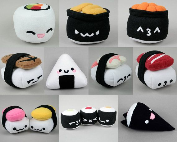 spam musubi egg nigiri sushi plush pdf sewing pattern. Black Bedroom Furniture Sets. Home Design Ideas