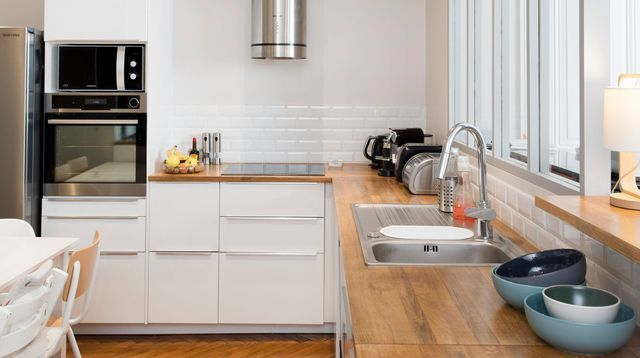 Appartement Lyon 3  un 100 m2 avec charme de l\u0027ancien et touche - construire un bar de cuisine