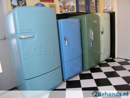 Goede Retro bolle amerikaanse jaren 50 koelkast - Te koop | Tweedehands JY-32