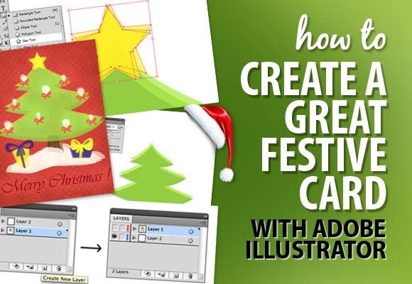 Christmas time is coming soon so why not to make it more special by drawing your own festive card in Adobe Illustrator CS4.
