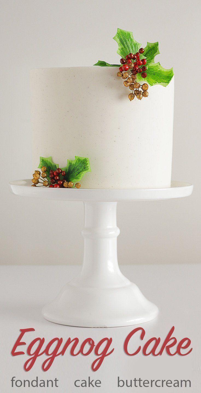 Holiday Eggnog Cake   Recipe   Pinterest   Eggnog cake, Christmas ...