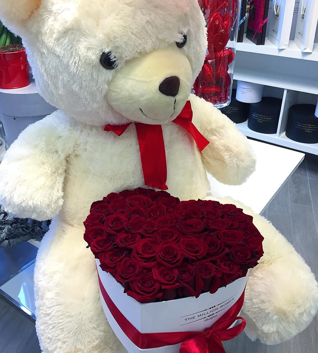 Our Limited Edition Valentine S Day Box Themillionroses Lovebox Valentine S Roses Teddy Bears Valentines Bear Valentines Valentine Day Boxes