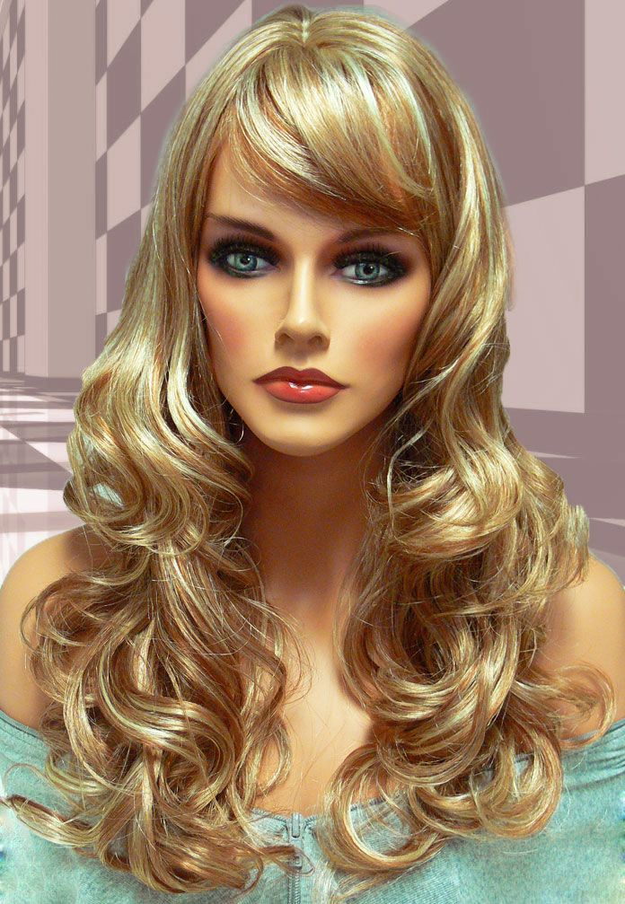 Tousled Bouncy Curl Wig in Strawberry Blonde Mix Glam
