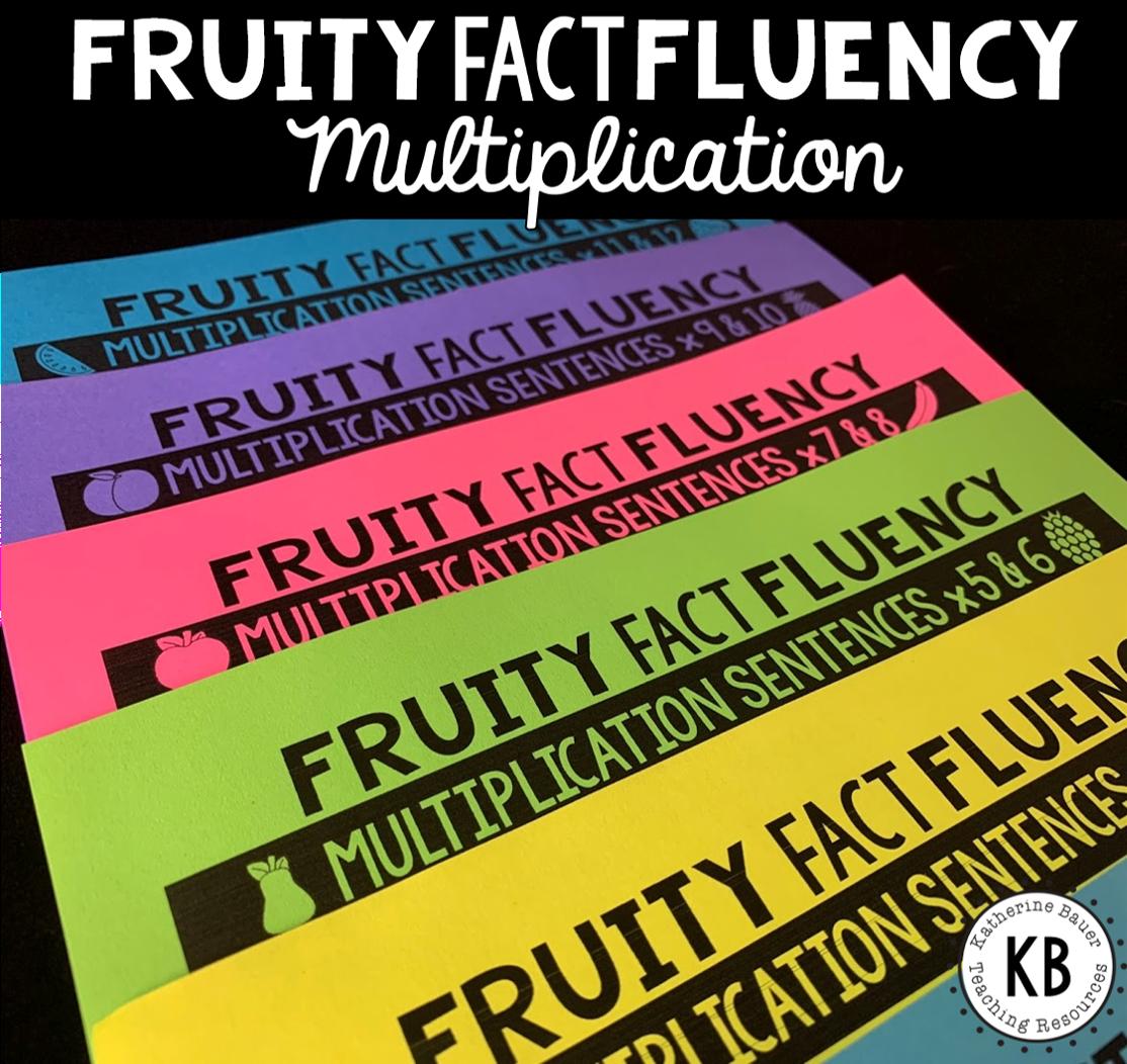 Fruity Fact Fluency Multiplication Year Long Program