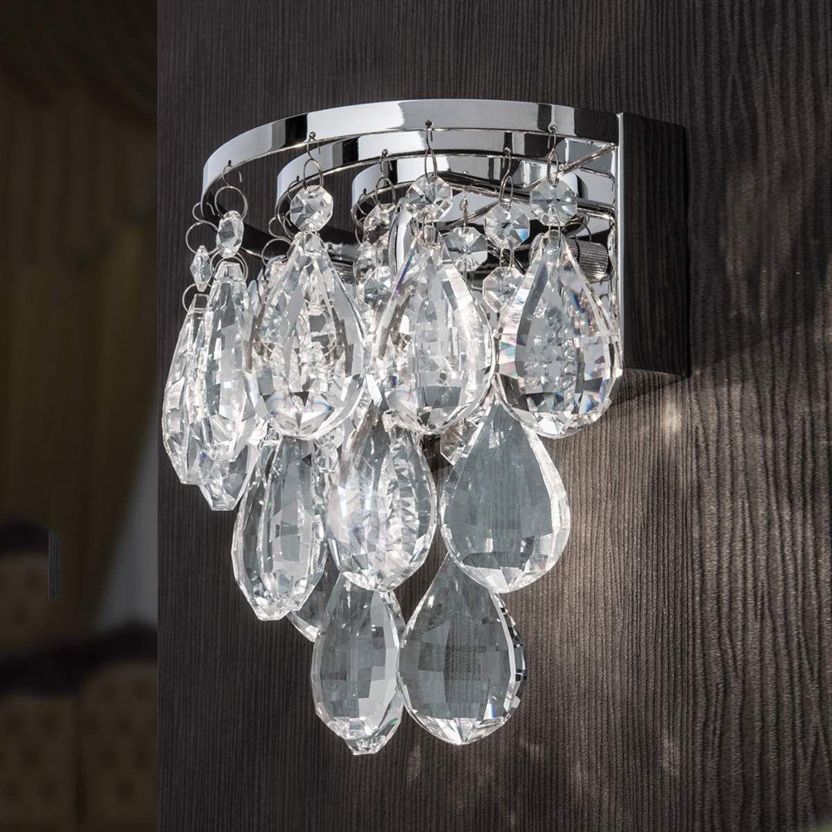 Belle applique Helene avec cristaux de plomb  Luminaire, Parure