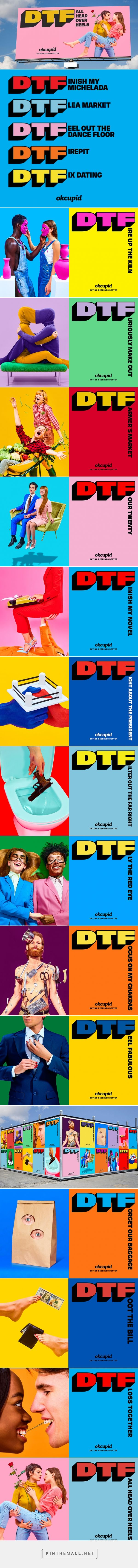 OkCupid Redefines 'DTF' in Striking Ads That Are Like Little Works