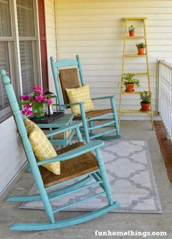 35 Colorful Porch Ideas Lolly Jane Front Porch Decorating Front Porch Seating Front Porch Makeover