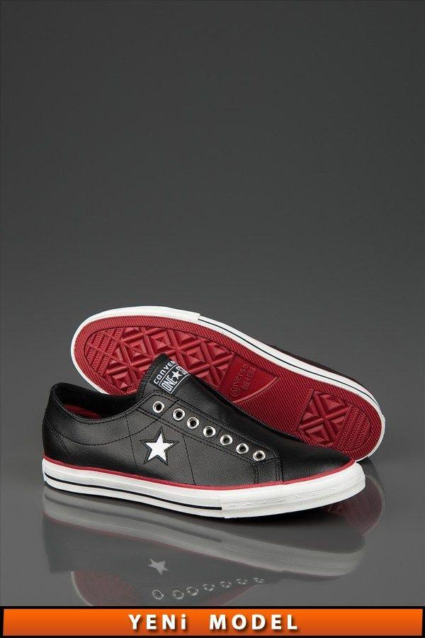 Deri Erkek - Os One Star Dx Slip Black/Chilipepper Ox 129603C