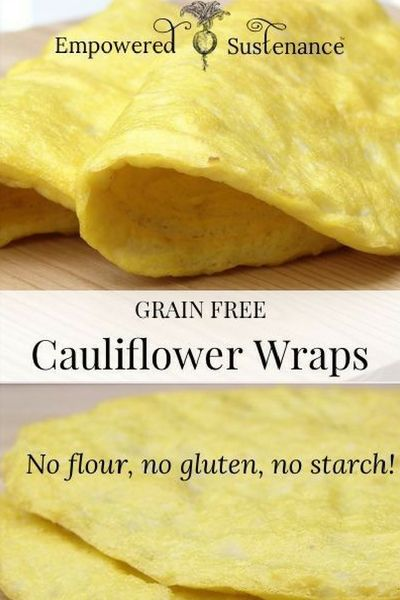 Cauliflower Wraps Flavor-packed cauliflower wraps provide the perfect grain-free alternative to tortillas. They are also gluten-free, refined sugar free, and dairy free, making the suitable for paleo/primal and whole30 diets.