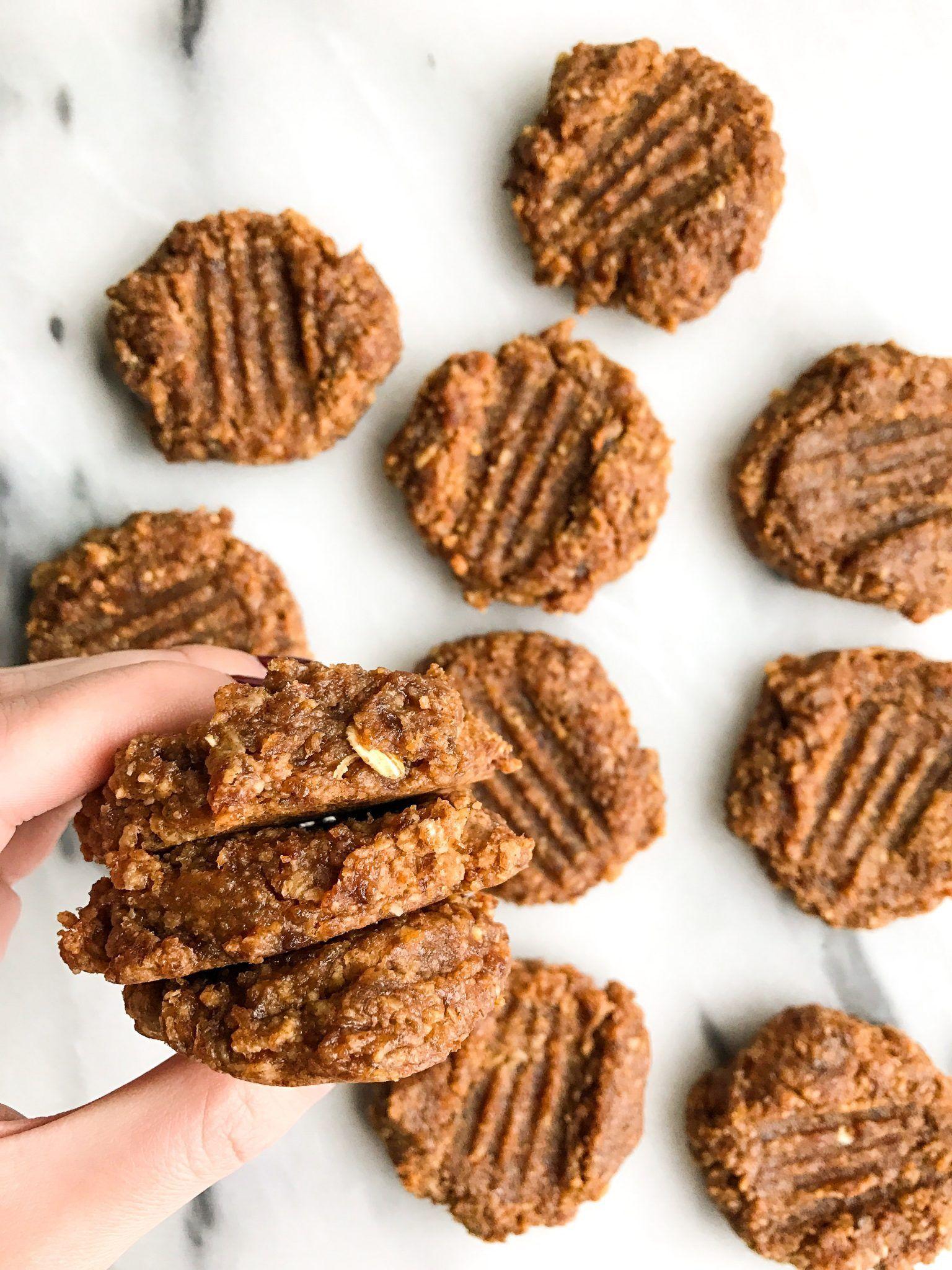 10 Minute Vegan Almond Butter Cookies Recipe Almond Butter
