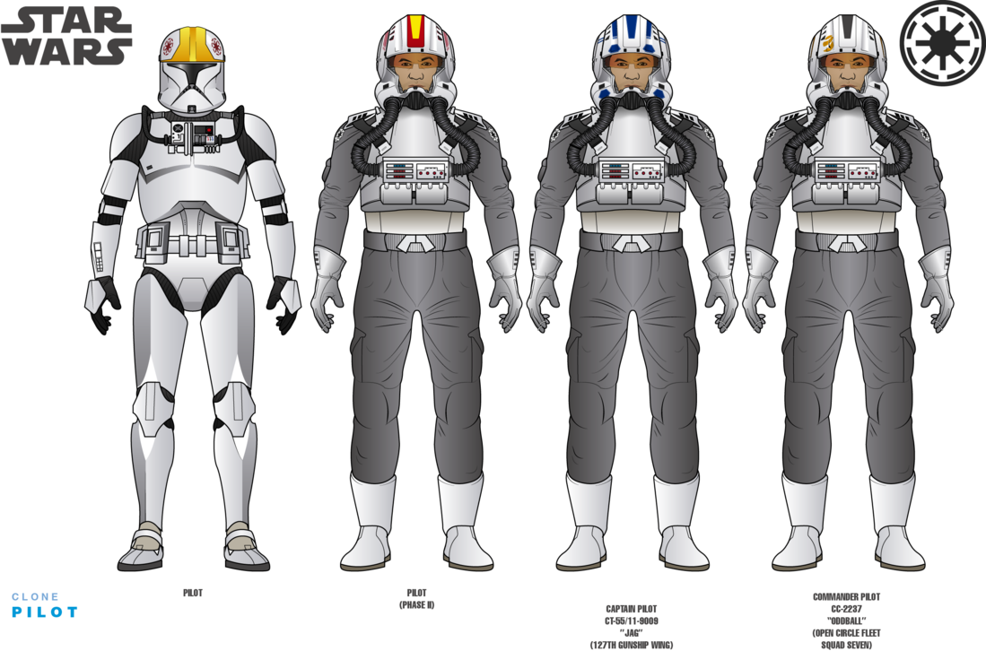 Clone Pilots I And Ii By Efrajoey1 Star Wars Clone Wars Star Wars Geek Star Wars Commando