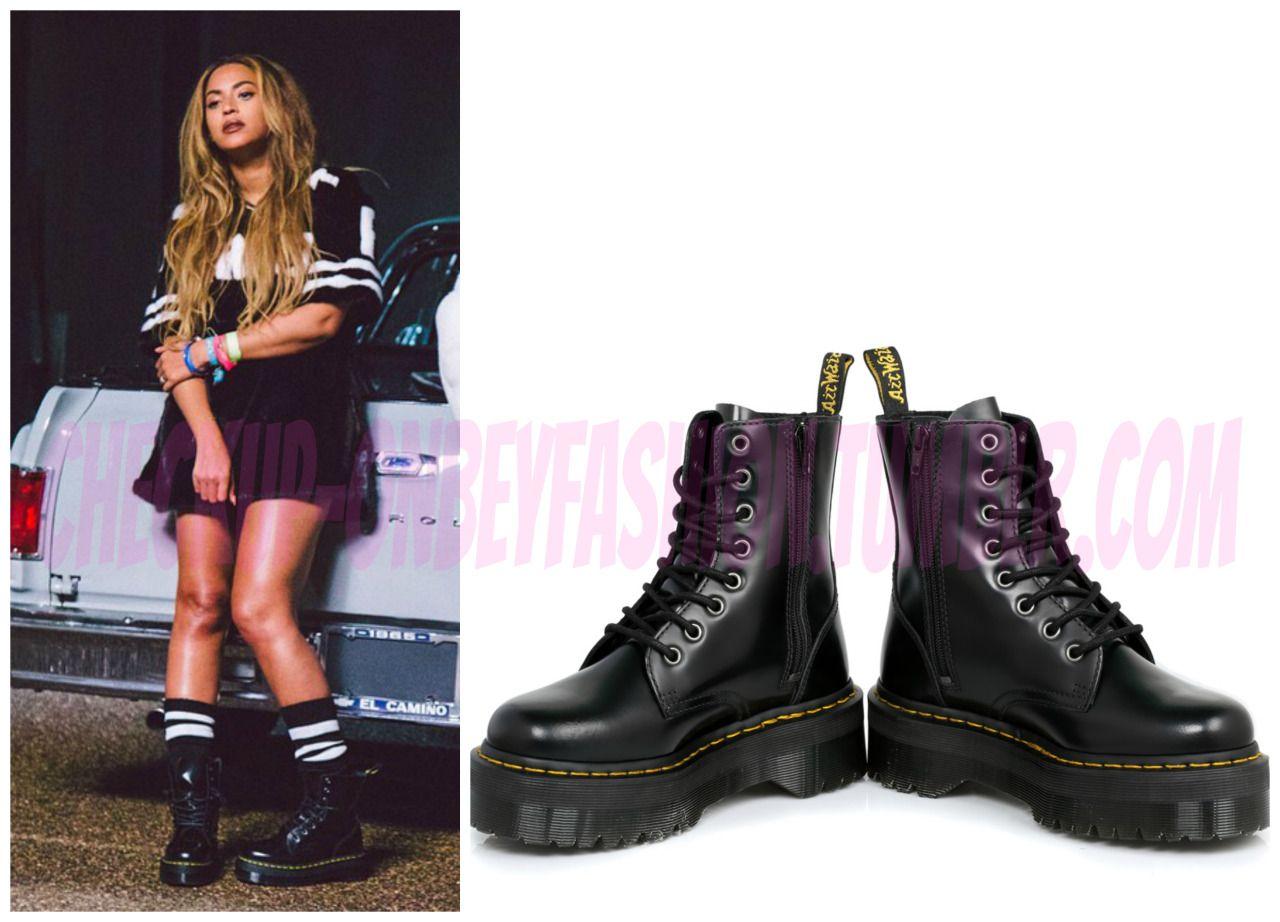 Beyonce Wears Dr Martens Jadon Boots 170 For Feeling