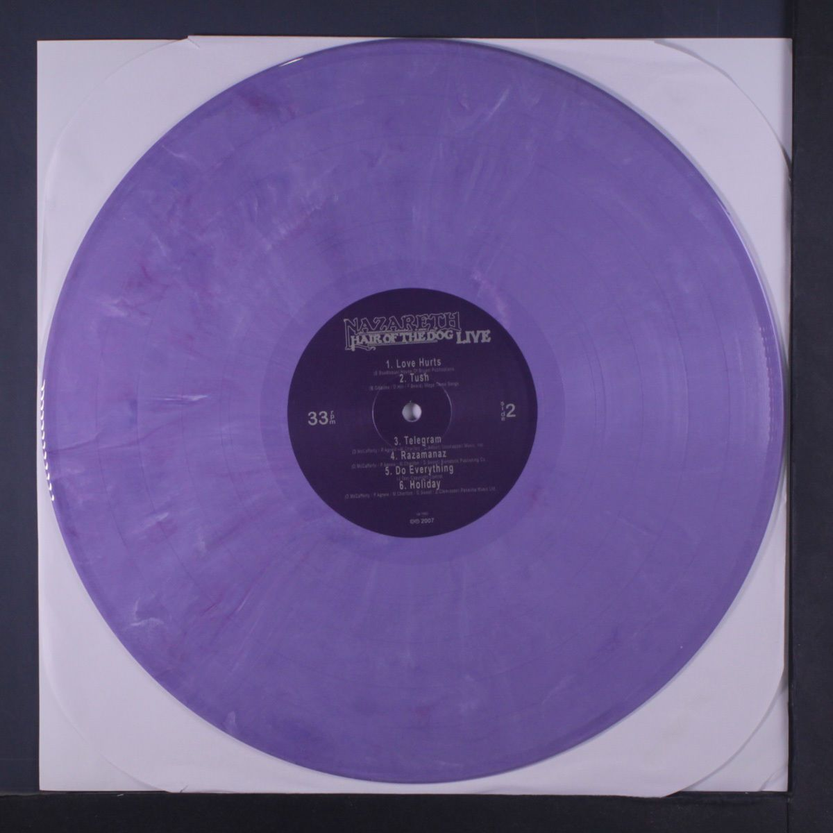 Details About Nazareth Hair Of The Dog Live Lp Purple