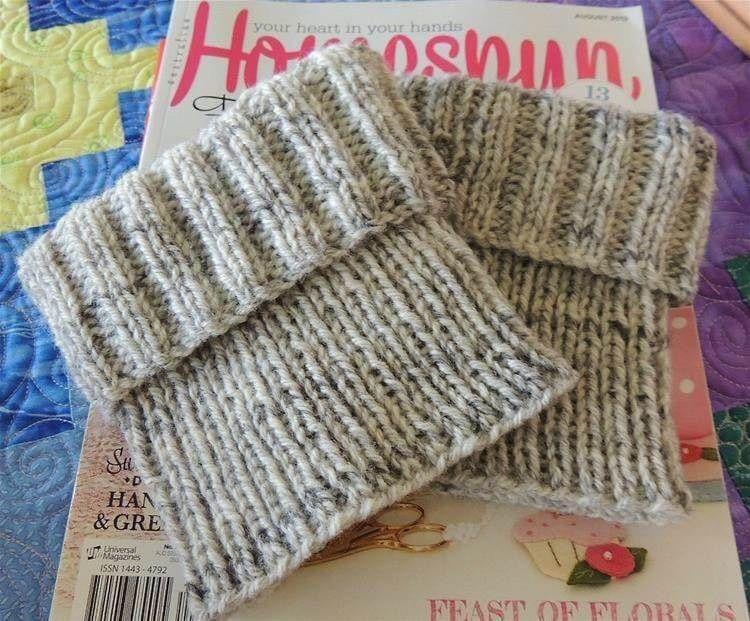 27 Free Knit Boot Cuff Patterns   Knit boot cuffs pattern ...
