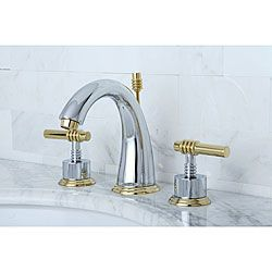 Milano Widespread Chrome Polished Brass Bathroom Faucet Bath