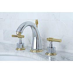 Milano Widespread Chrome Polished Brass Bathroom Faucet Bath