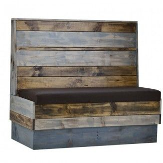Commercial Quality Restaurant Furniture Indoor Industrial Recaimed Wood  Booth Seating. Order It Now At ContractFurniture