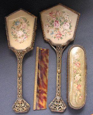 Antique Vanity Set Google Search Vintage