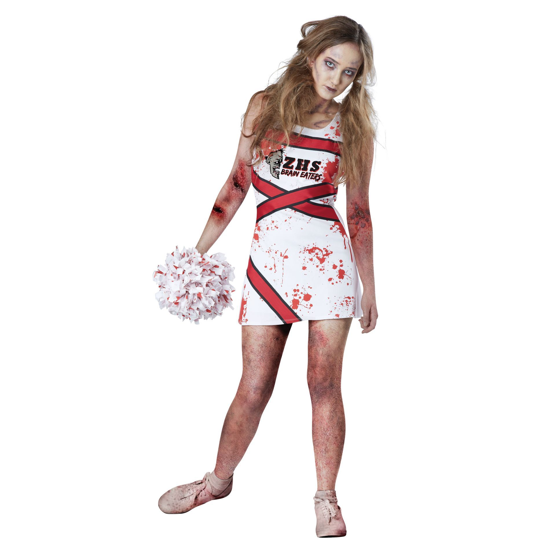 Totally Ghoul Zombie Cheerleader Costume S