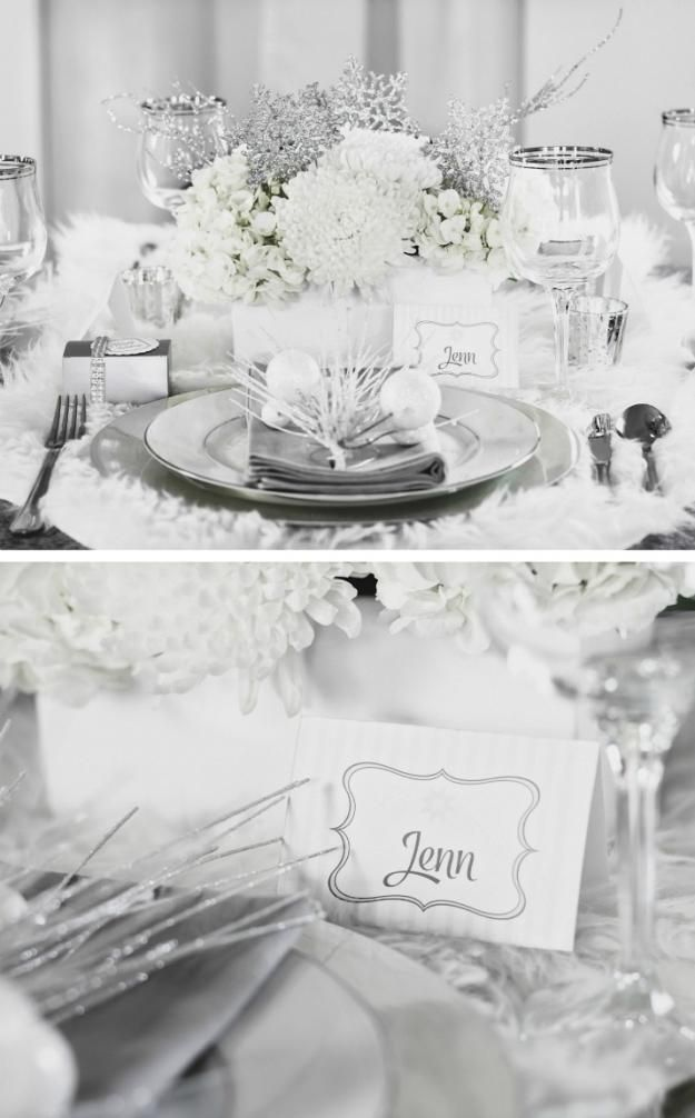Winter Wonderland Holiday Party Ideas - Celebrations at Home #christmasparty #ch...