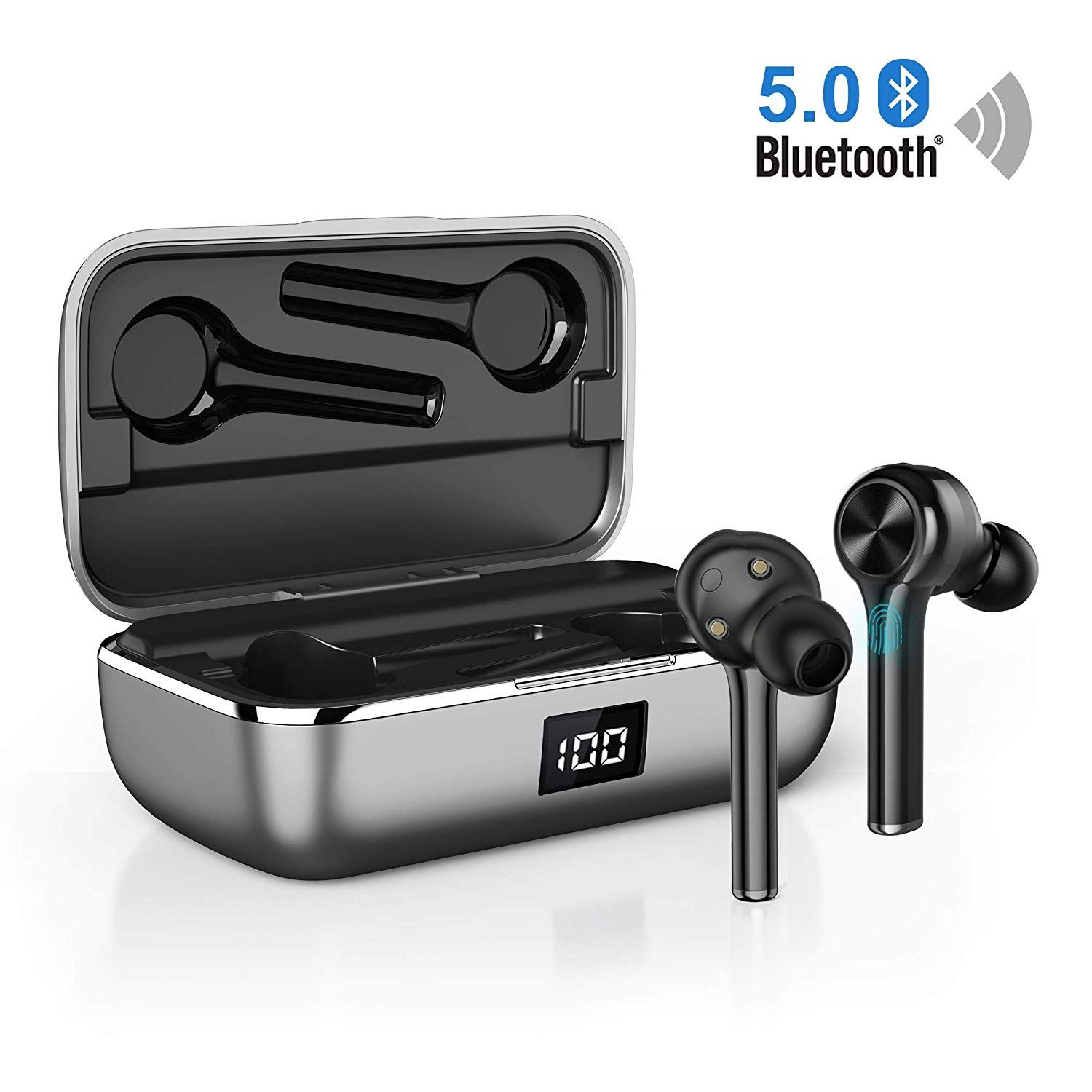 Ecouteur Bluetooth Sans Fil Sport Oreillette Intra Auriculaires Bluetooth Leger Stereo 40 Heures Pla Bluetooth Earbuds Wireless Earbuds Black Bluetooth