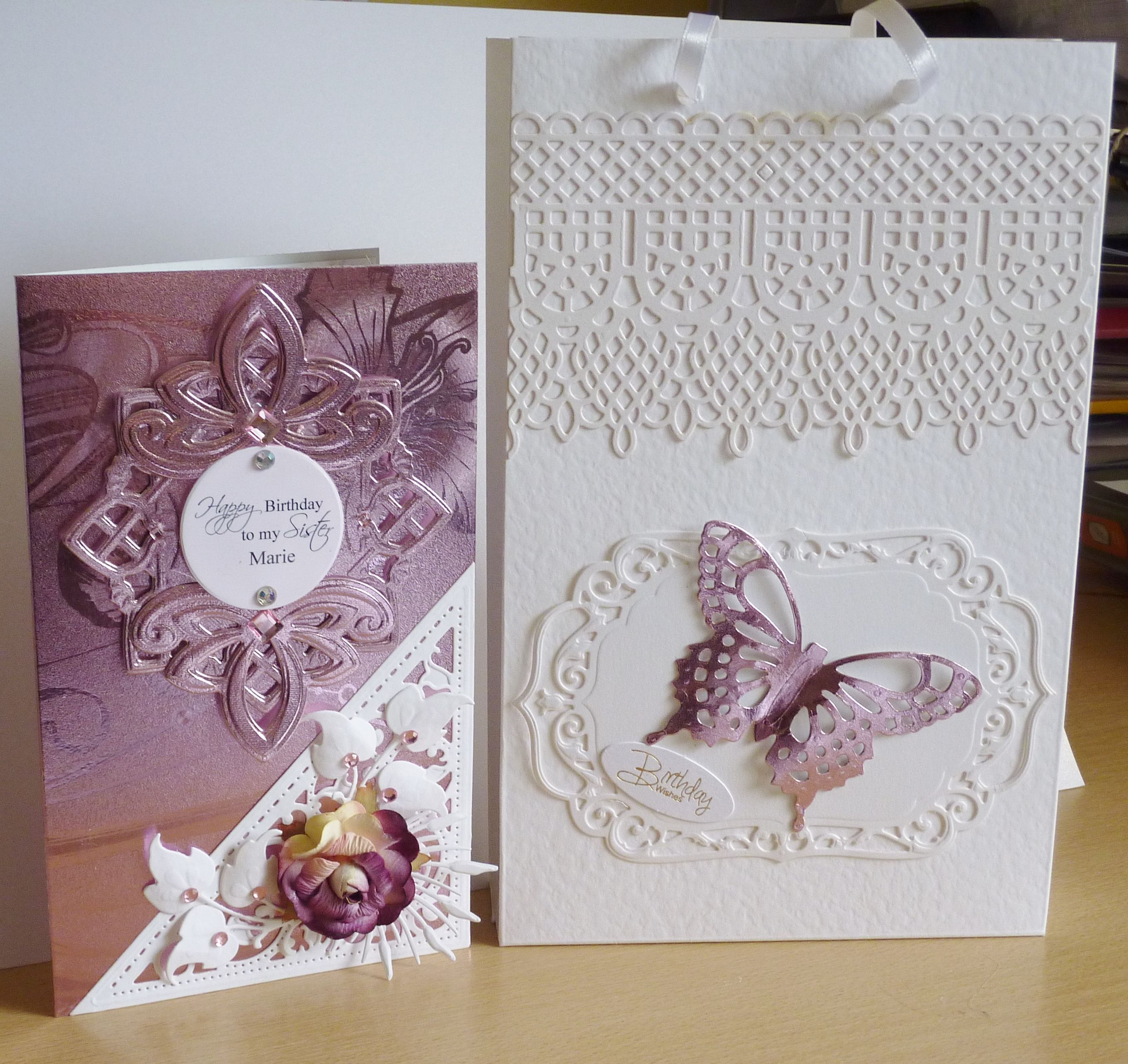 Special order birthday card and bag Birthday cards