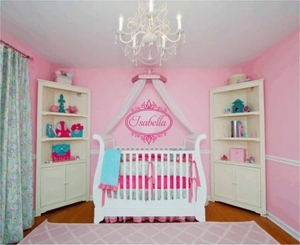 Pink Wall Decoration With Best Baby Nursery Wall Stickers Decals - Best nursery wall decals
